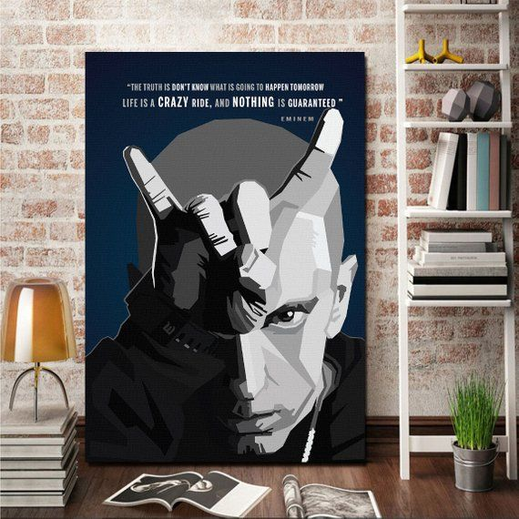 Eminem Quotes Canvas Giclee Print Painting Picture Wall Art Canvas Giclee Pictures To Paint Canvas Quotes