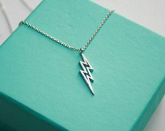 Lightning Bolt Necklace, Dainty Lightning Necklace, Little Storm necklace, Zeus Lightning Bolt, Harry Potter Scar Necklace