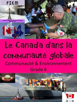 "French Immersion, Grade 6 Sciences SocialesLe Canada dans la communaut globale? Have you noticed how hard it is to get good solid information in French on this topic? Search no more! All the support materials to teach this long unit of study are right here.Integrate this resource in your social studies unit about ""Canada dans la communaut globale"" with accurate information at the reading level of your French Immersion students!This resource is intended to develop the vocabulary and content…"