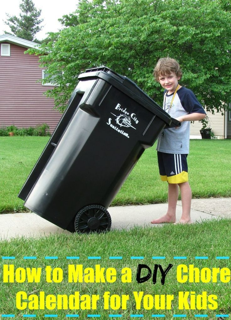How to Make a DIY Chore Calendar for Your Kids. Parenting isn't an easy job and it only becomes more complicated as our kids grow. One of the greatest struggles is getting children to help out around the house. They contribute to the mess, so it makes sense that they help clean it up. But how can we make our kids do their chores without the fighting and hassle?