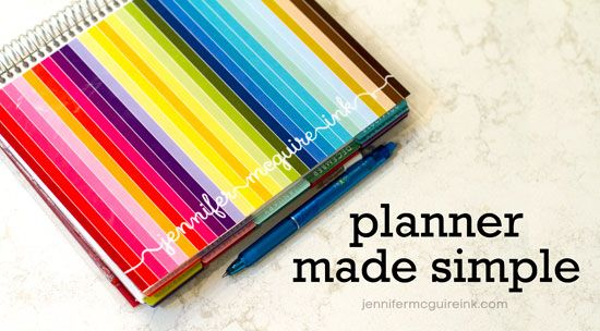 VIDEO: Planner Organization + Stay Focused Blog Hop + Giveaways | Jennifer McGuire Ink