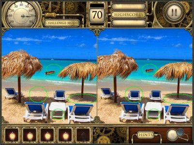 Beach scene from Spot The Difference iPad game, Download Here. https://itunes.apple.com/us/app/spot-the-difference!-hd-free/id577037524?mt=8