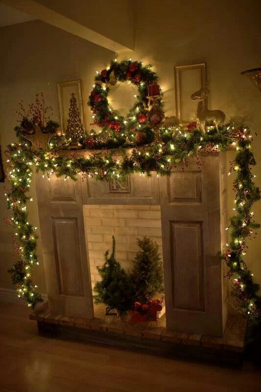 17 Best Images About Christmas Mantel Decor On Pinterest
