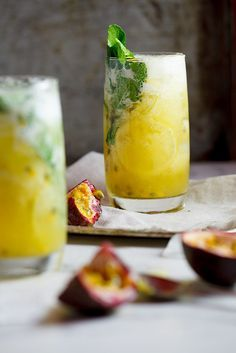 Pineapple Passion Fruit Mojito
