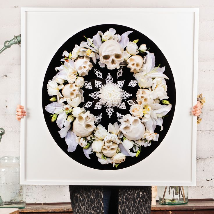 ZOE AND MORGAN, BE HERE NOW FRAMED PRINT  'What you think, you become, what you feel, you attract and what you imagine- you create'  800m x 800mm  Frame circle mount cut to fit in square frame.  Photographer: Georgie Maylon