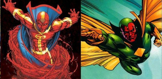 Resultado de imagen para The Vision vs Red Tornado