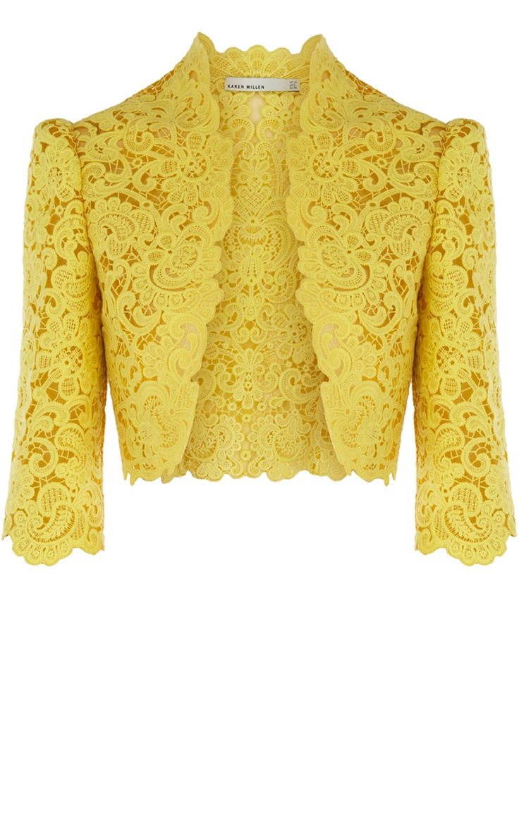 Casaquinha muito elegante  Beautiful Cotton Lace Jacket, Karen Millen