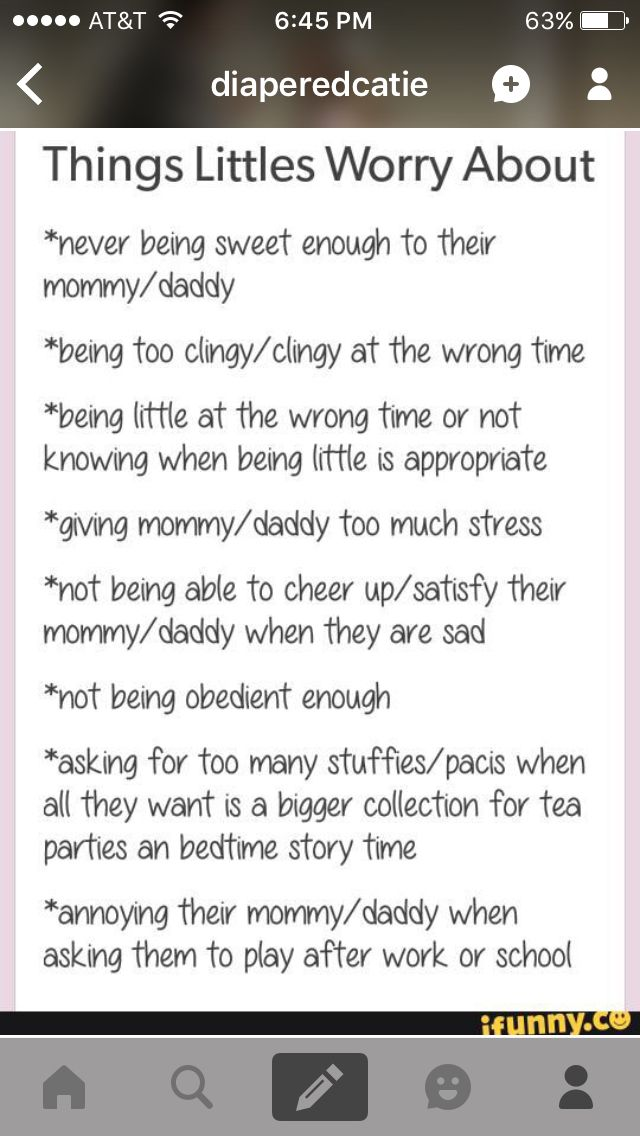 Things littles worry about