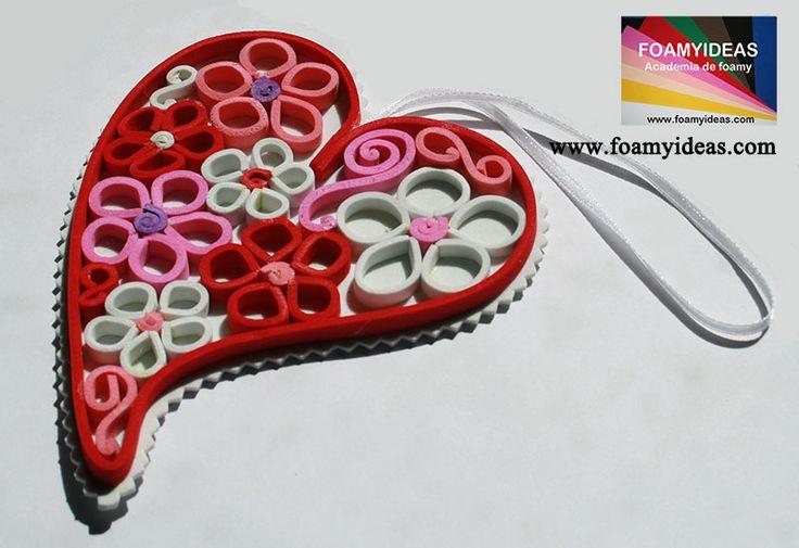 moldes para manualidades en foamy amor y amistad