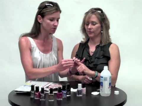 Newest Nail Art trend.  This is so easy, and you already have necessary tools at home.  This video comes from the Avon website.  Try it.  I've been getting a lot of great comments, and everybody's been asking me how to do it.