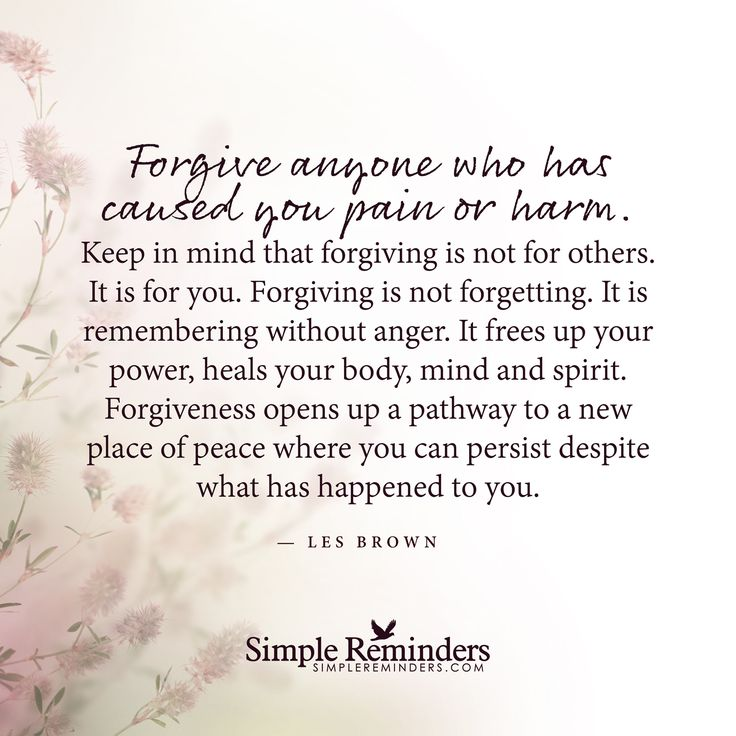 forgiving and forgetting in a relationship