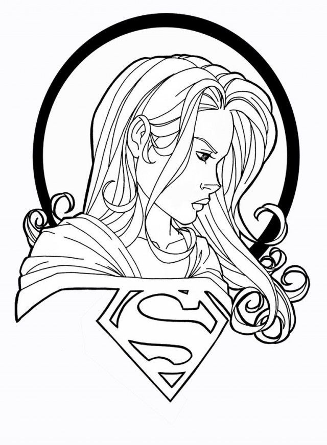 Supergirl Coloring Pages | Comic Book Coloring Pages | Coloring ...