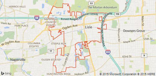 Map of Lisle, Illinois