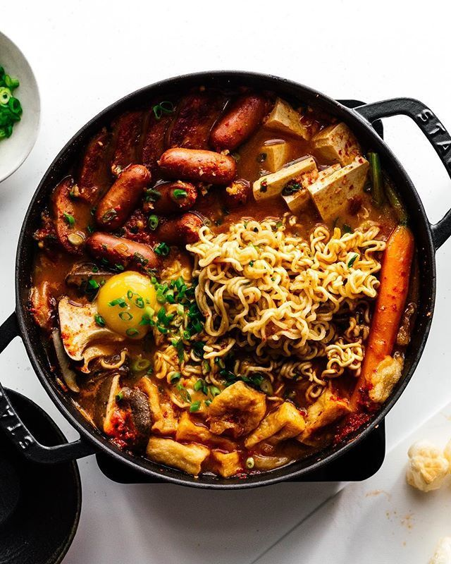 This Stew Was Invented By Soldiers In The Korean Army Who Didnt Have Enough To Eat So They Pooled Their Resources Together With A Army Stew Recipe Food A Food