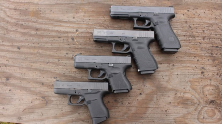 Size comparison of the Glock 43 to the 26,19 and 17 models.