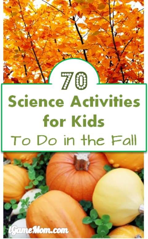 More than 70 autumn themed science activities to do with kids this fall season - leaves, apples, pumpkins, pine cones, sun, moon, stars, wind, rain, … and more. Wonderful STEM resource for school, homeschool or after school.
