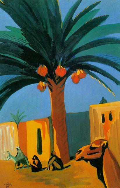 Martios Sarian - A date palm, 1911.