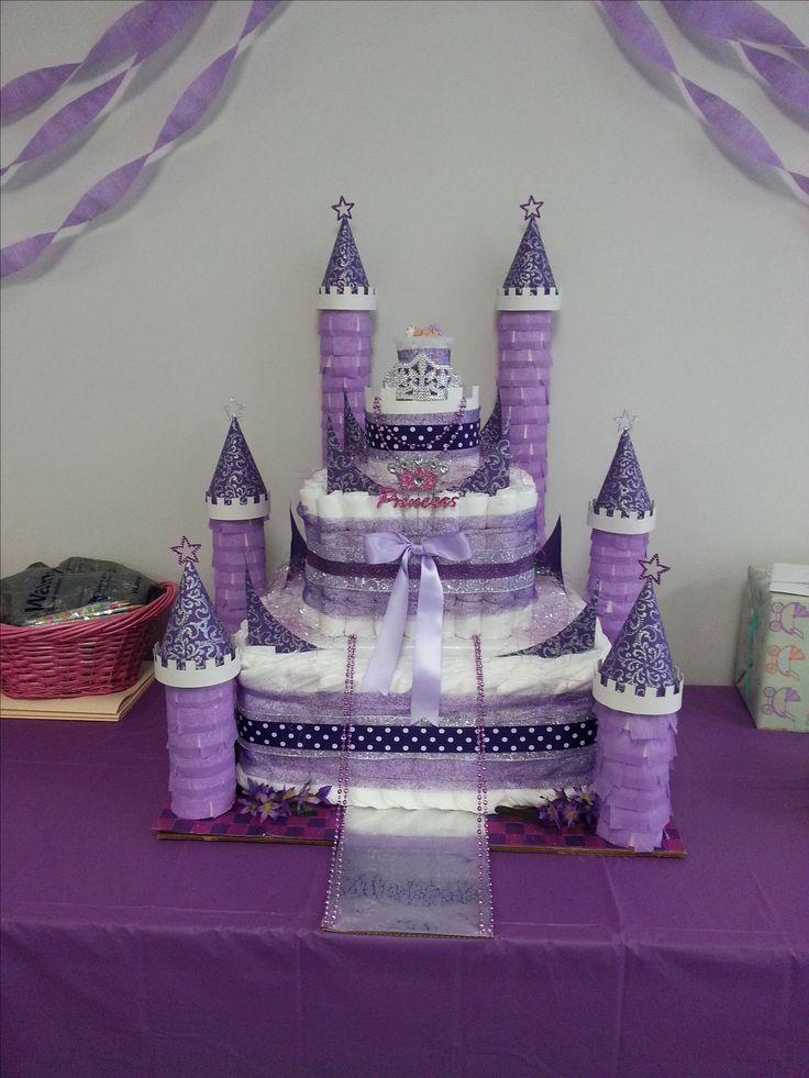 Baby Diaper Castle Cake