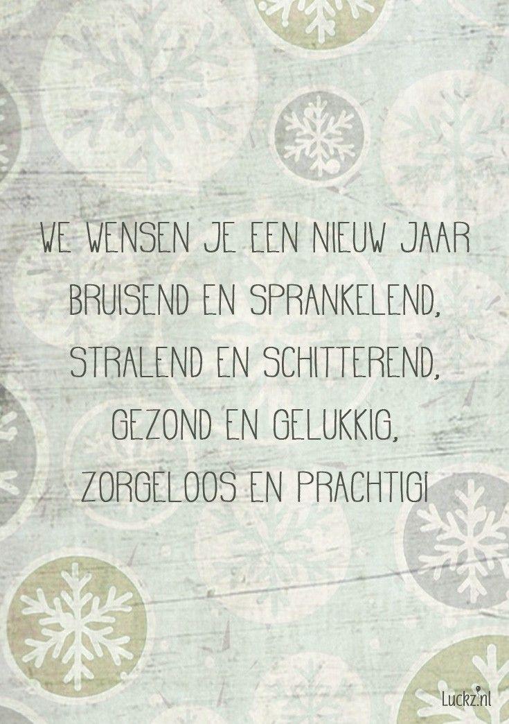 Leuke design kerstwens voor op een kerstkaart. Kijk bij Luckz.nl voor meer
