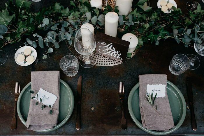 Greenery + candles | Image by Jason Corroto Photo