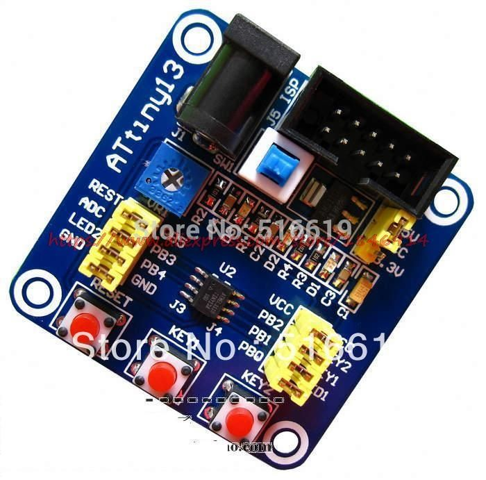 ATtiny13 Development board tiny13 Learning board AVR development board and minimum system reference routines