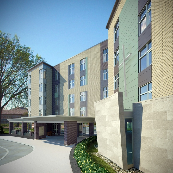 Bryan Bonell / BJHA St. Patrick's Home of Ottawa Long Term Care Facility, 2013 (rendering by Steve Clifford)