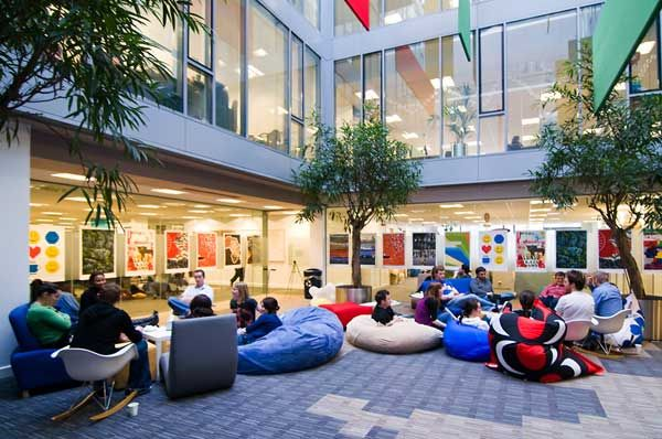 Google corporate office google dublin officeal for Office design group inc