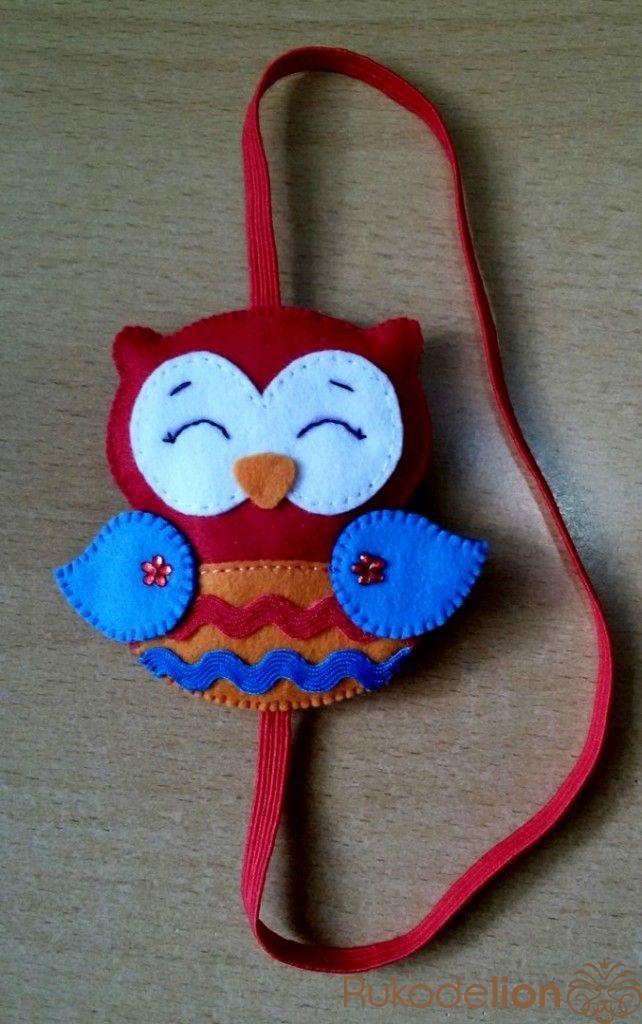"Закладка из фетра ""сова"" Для пошива закладки нам понадобиться:1. Фетр мягкий (я использовала корейский мягкий фетр 1.0 мм)2. Нитки в цве..."