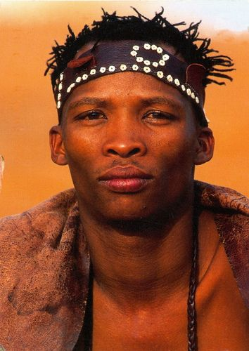 Namibia - Kalahari Bushman, Namibia by 9teen87's Postcards, via Flickr