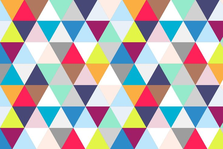 Multicoloured Geometric Triangles Mural, made to suit your wall size by the UK's No.1 for murals. Custom design service and express delivery available.