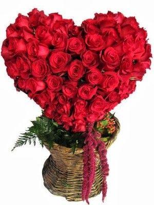 fotos de arreglos de rosas rojas artisticos