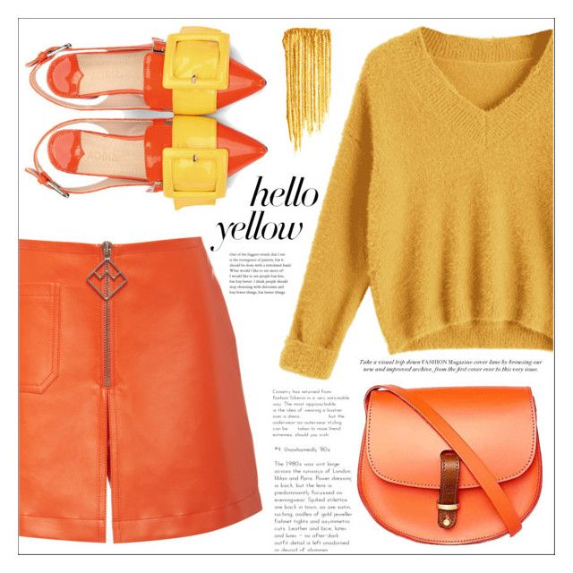 """Hello Yellow"" by amchavesj-1 ❤ liked on Polyvore featuring Bally, N'Damus, Yves Saint Laurent, PopsOfYellow and NYFWYellow"