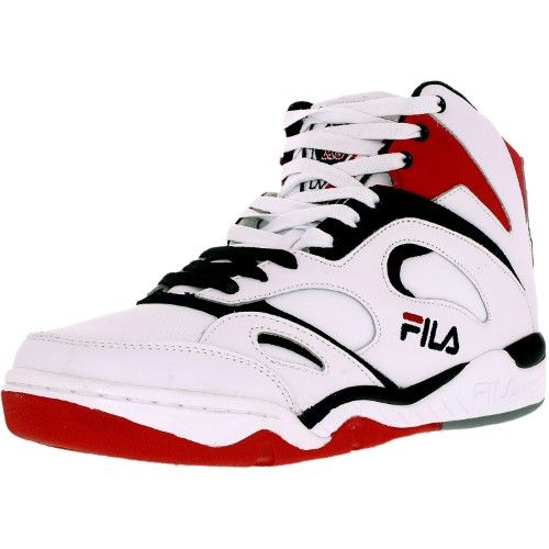 Fila Men's Kj7 WhiteBlackFila Red Ankle High Leather