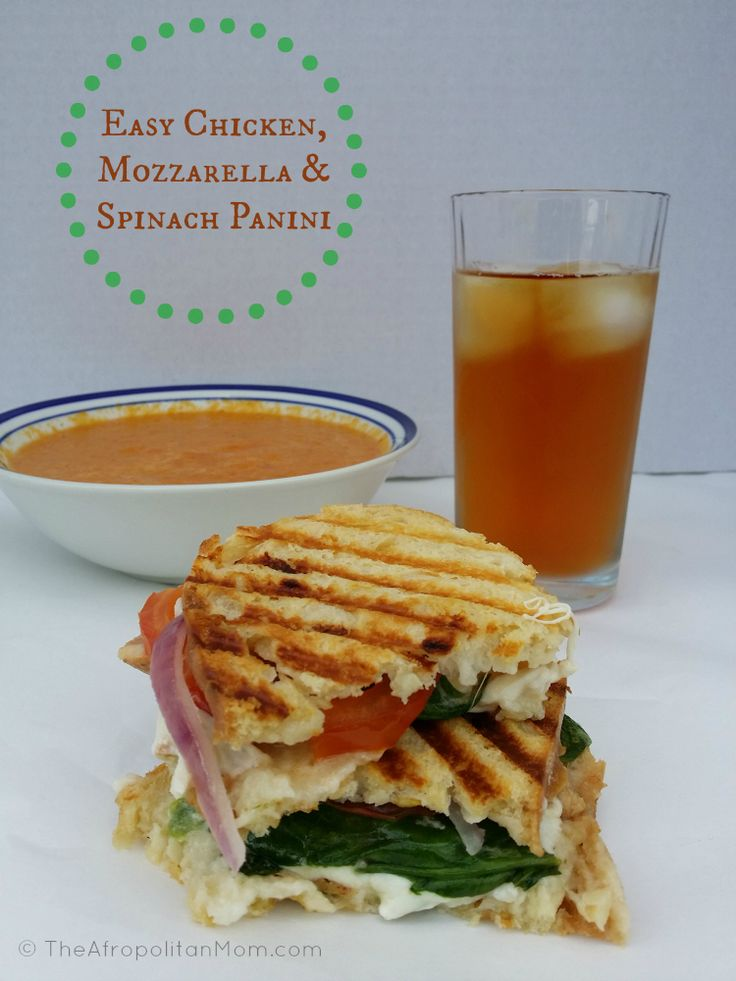 Chicken, Mozzarella and Spinach Panini #TEArifficPairs #shop #panini # ...