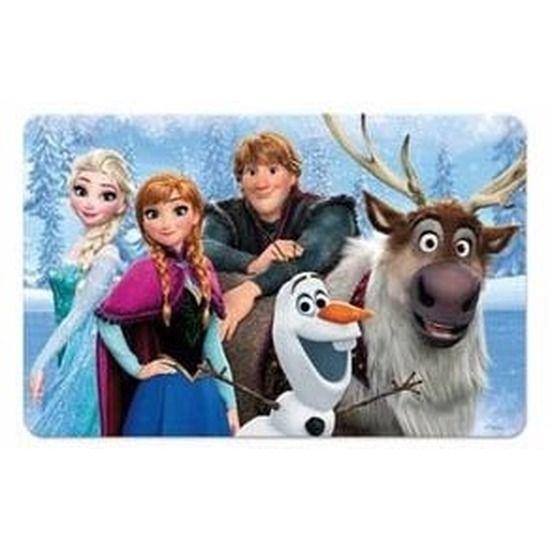Frozen 3D placemat type 1. 3D placemat met een afbeelding van de karakters uit de bekende Disney film Frozen heeft een formaat van ongeveer 43 x 30 cm.