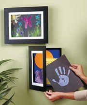 storage for kids art: Easy Change, Change Artwork, Idea, Craft, Kids Artwork, 50 Pieces, Kids Art Display, Artwork Frames, Kids Art Frame