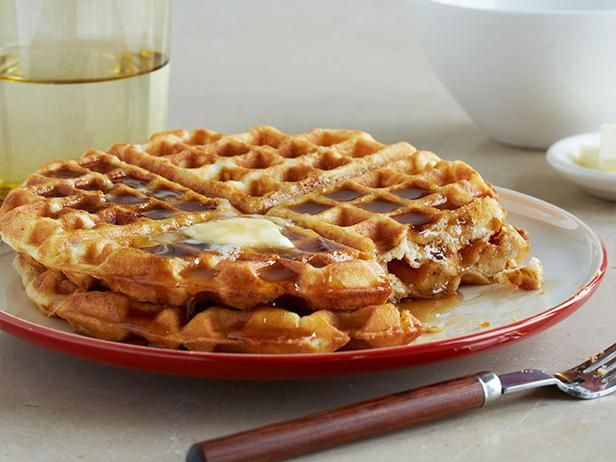 Classic Crispy Waffles from Food Network - made with the girls, but we used melted bacon grease instead of melted vegetable shortening and left out salt since we used salted butter