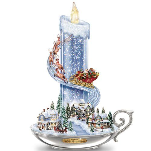 Table Centerpiece: Thomas Kinkade Warm Glow Of Christmas Table Centerpiece by The Bradford Exchange * Click image to review more details.