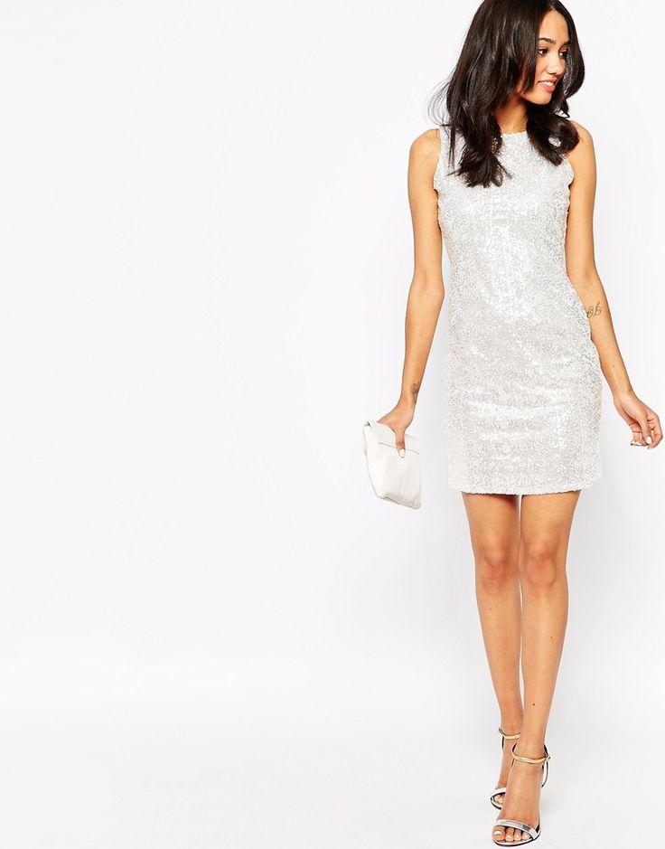 Image 4 ofTrue Decadence Petite Sequin Bodycon Dress