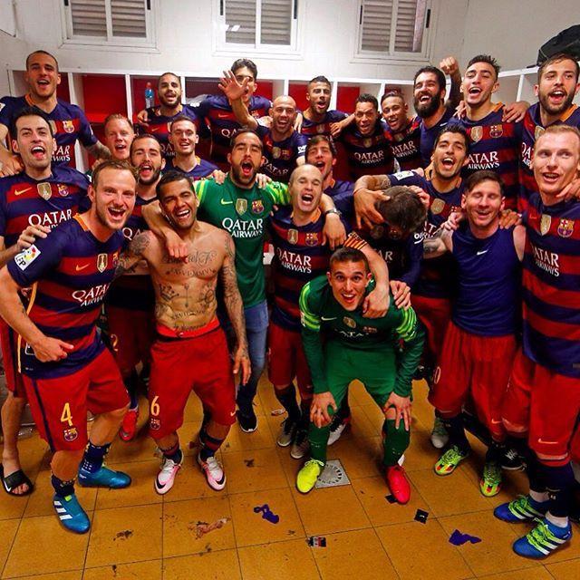Celebrate Barça's title using #CampionsFCB & #FCBWorld for your photos and/or videos  Celebra el títol del Barça fent servir #CampionsFCB a les teves fotos i/o vídeos a les xarxes socials  Celebra el título del Barça usando #CampionsFCB & #FCBWorld en tus fotos y/o vídeos en redes sociales  Força Barça! @fcbarcelona