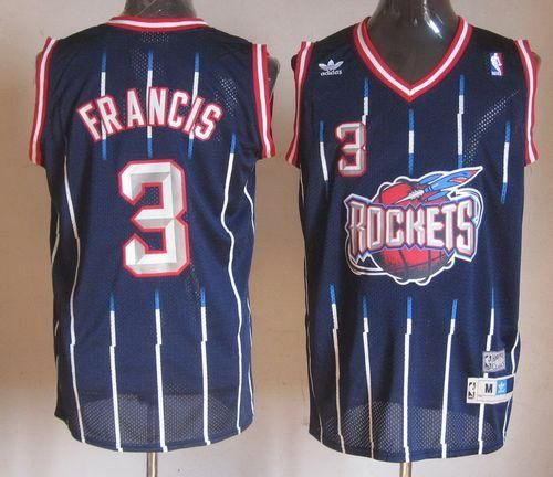Rockets  3 Steve Francis Navy Throwback Stitched NBA Jersey  7b2bc3383