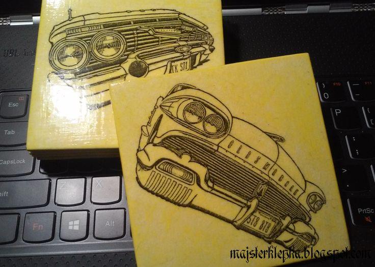 Majsterklepka - Zrób to sam: 176. Retro cars - podstawki pod kubki