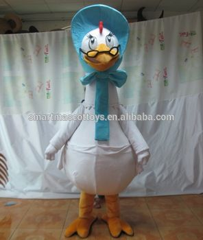 High quality plush goose mascot costume goose costumes for adults