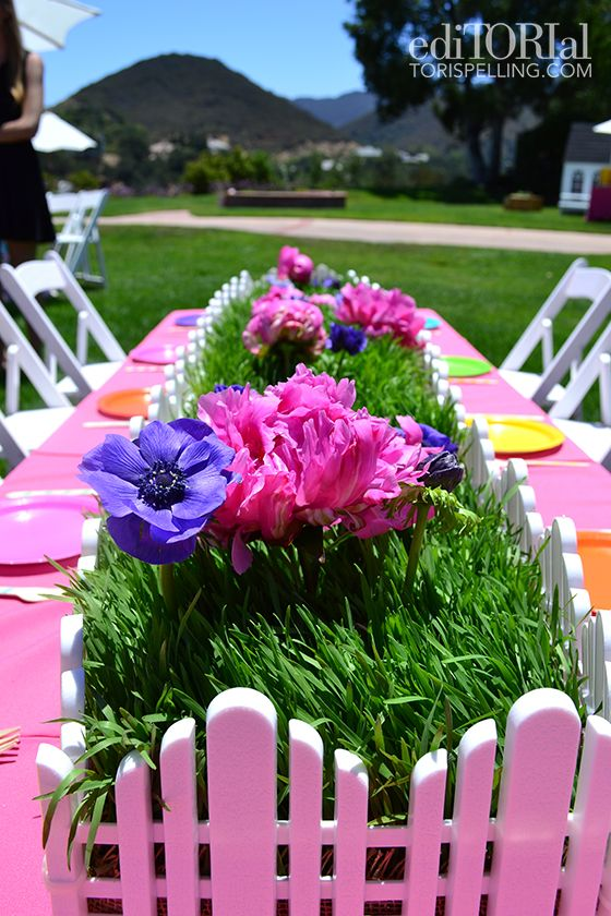 Summer birthday party tablescape