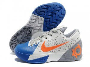 Discount price at Nike Zoom KD 6 White Blue Orange Shoes. The newest kd 6