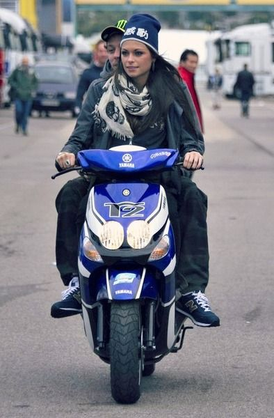 Valentino Rossi and his girlfriend