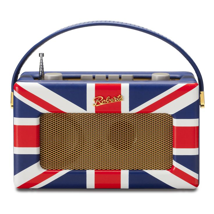 Add a touch of nostalgic 1950's style to any room with this retro radio from Robert's Radio. Features the Union Jack flag in wrapped leather for a unique look.
