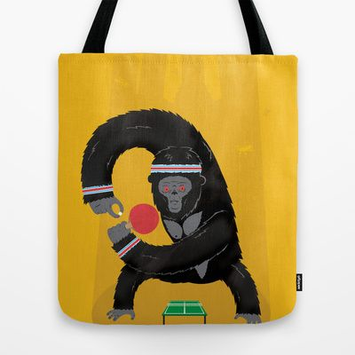 King Kong Ping Pong Tote Bag by Wharton - $22.00