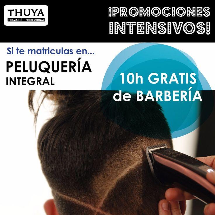 ¡Últimos días de promoción! ¡Si te matriculas en Peluquería Integral, te regalamos 10h del curso de Barbería! ¡Infórmate!