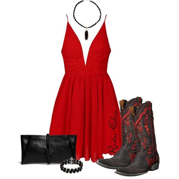 Fancy; Cowboy boots by @oldgringoboots; onyx necklace @sheplers; Lanvin clutch, western, country, little red dress